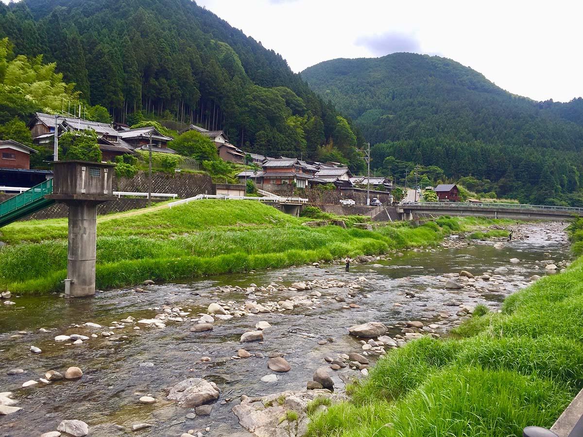 Fishing at river / アマゴ釣り
