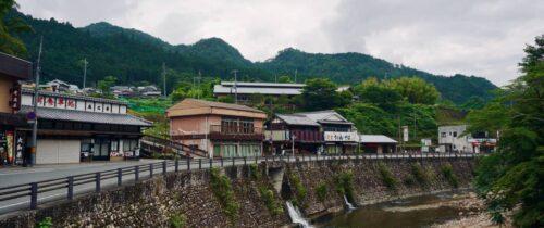 Shops along the river