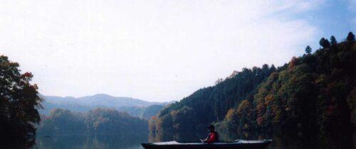 Kayaking on Shorenji Lake / 青蓮寺湖でカヤック
