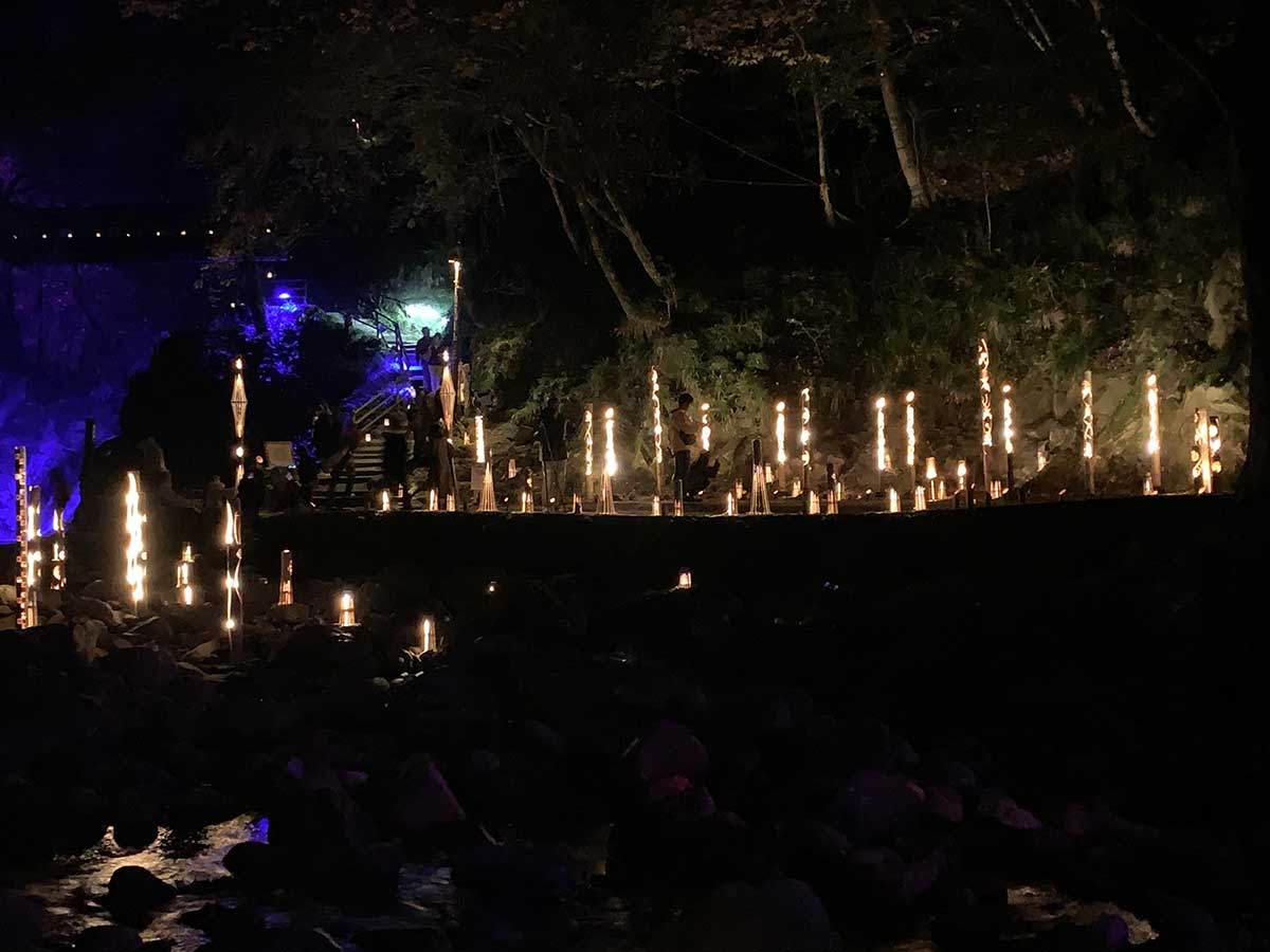 Illumination at Akame 48 Falls / 赤目滝ライトアップ