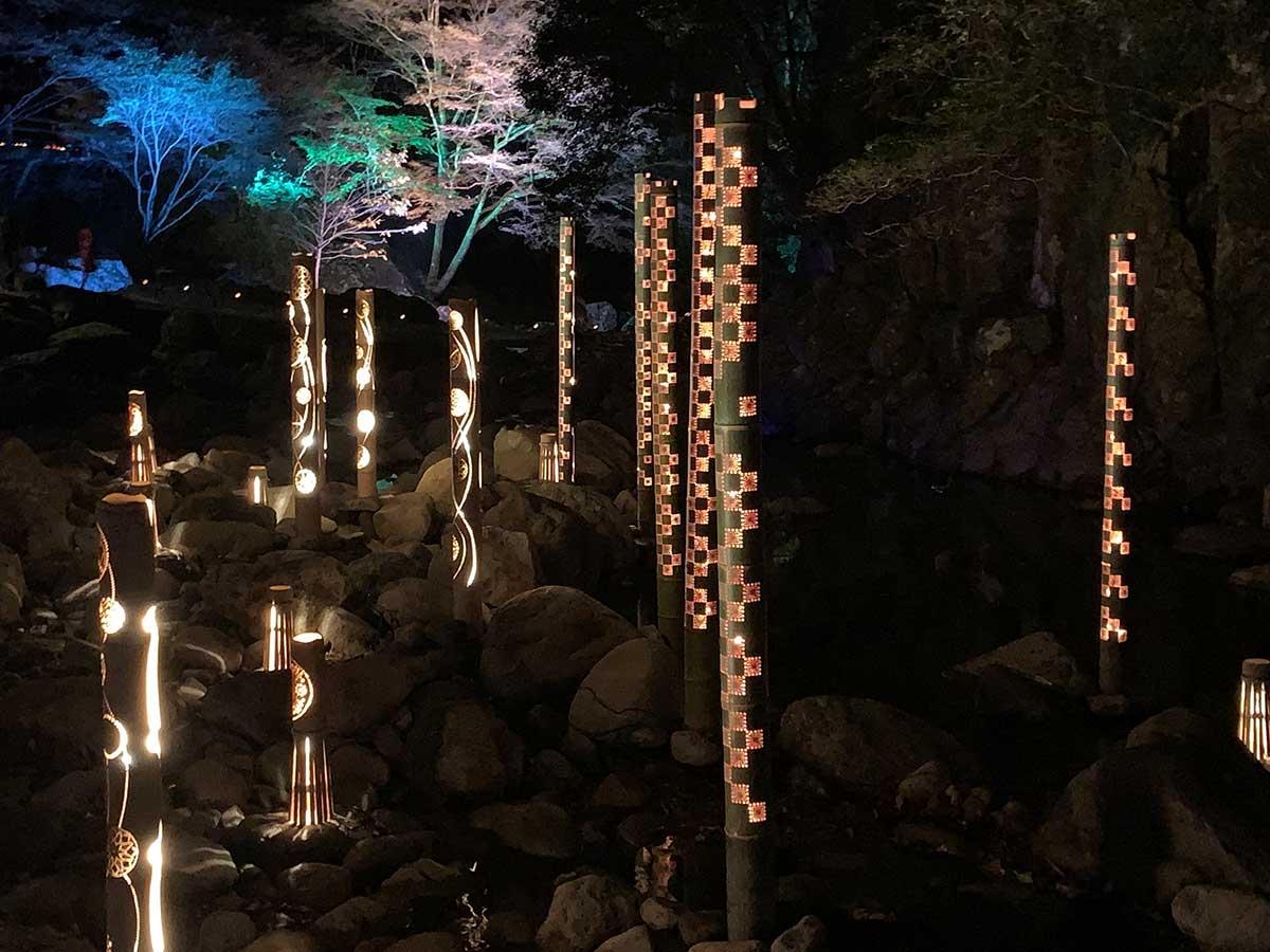 Bamboo lanterns / 竹灯り