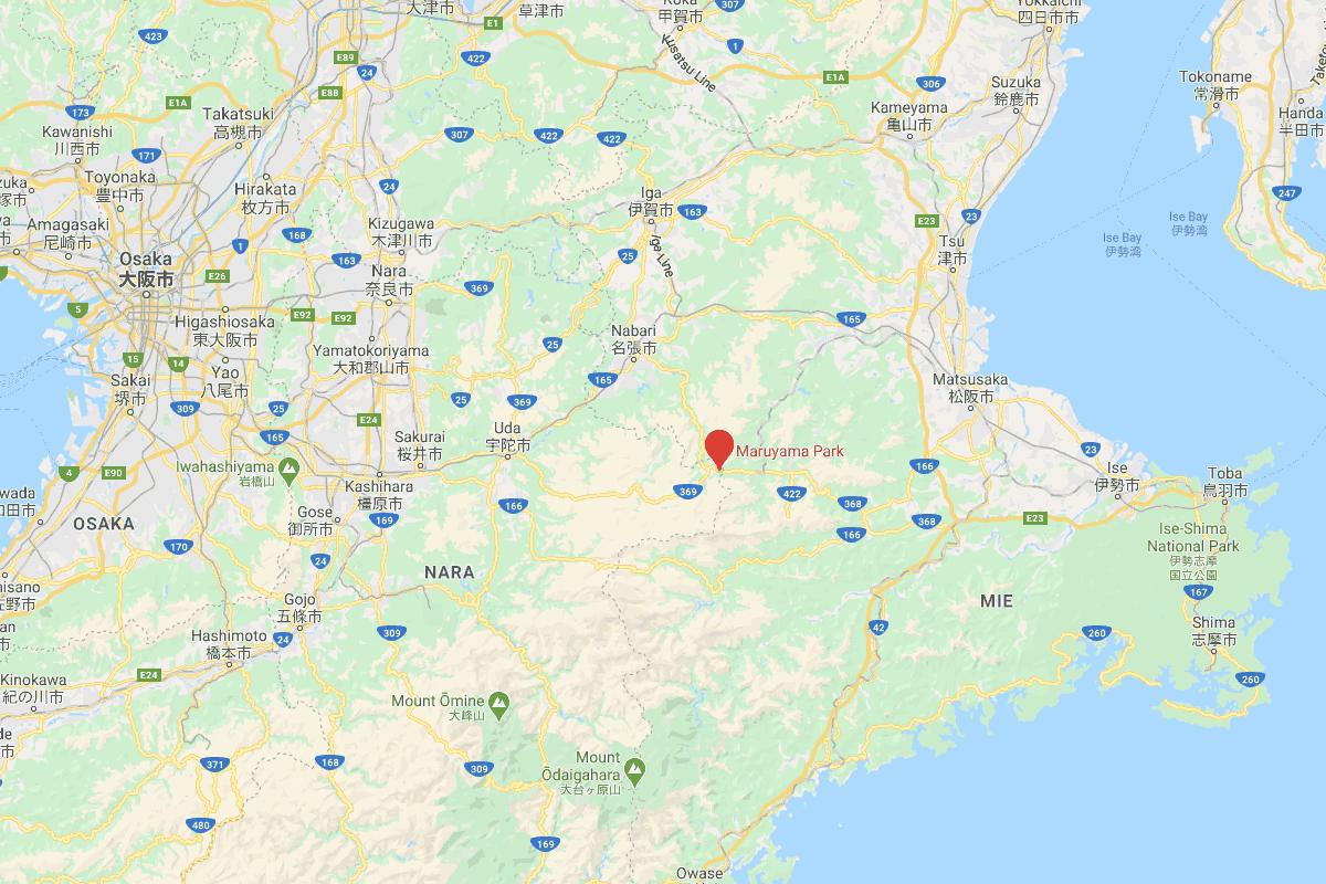 Location of Maruyama Park / 丸山公園の位置