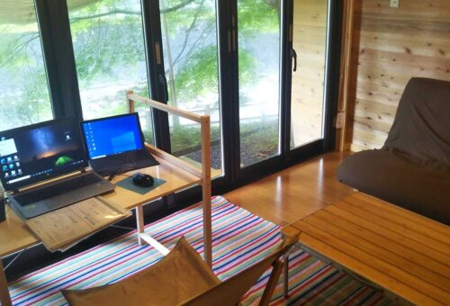remote-working in a bunglow / バンガローでテレワーク