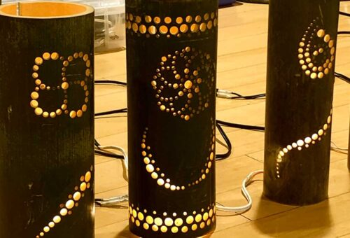 Bamboo lanters / 竹灯り