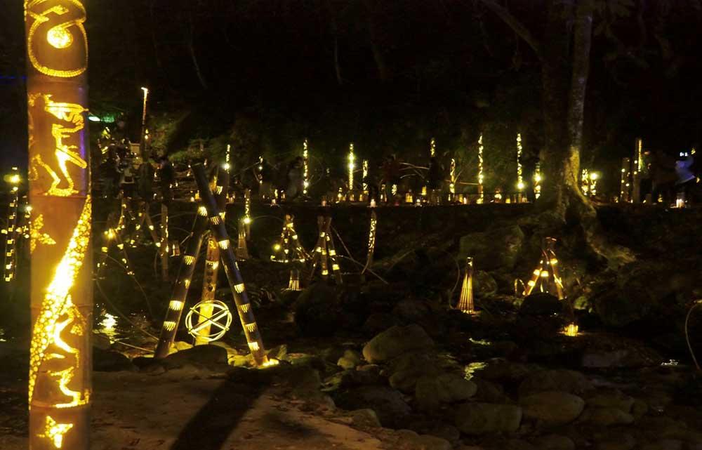 Akame 48 Waterfalls Bamboo Lantern Illumination 2020