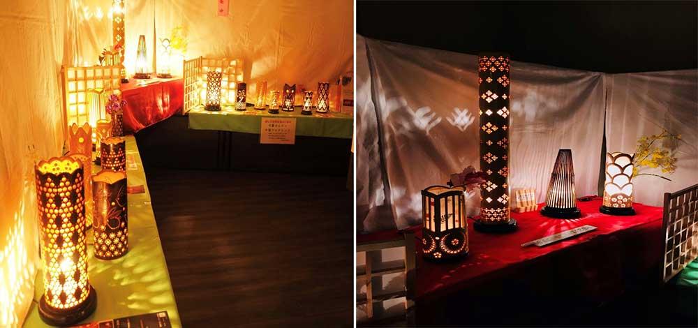 Bamboo lanterns and lamps