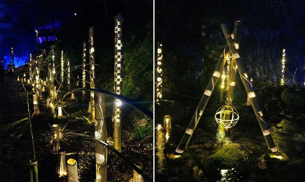 Bamboo lantern illumination